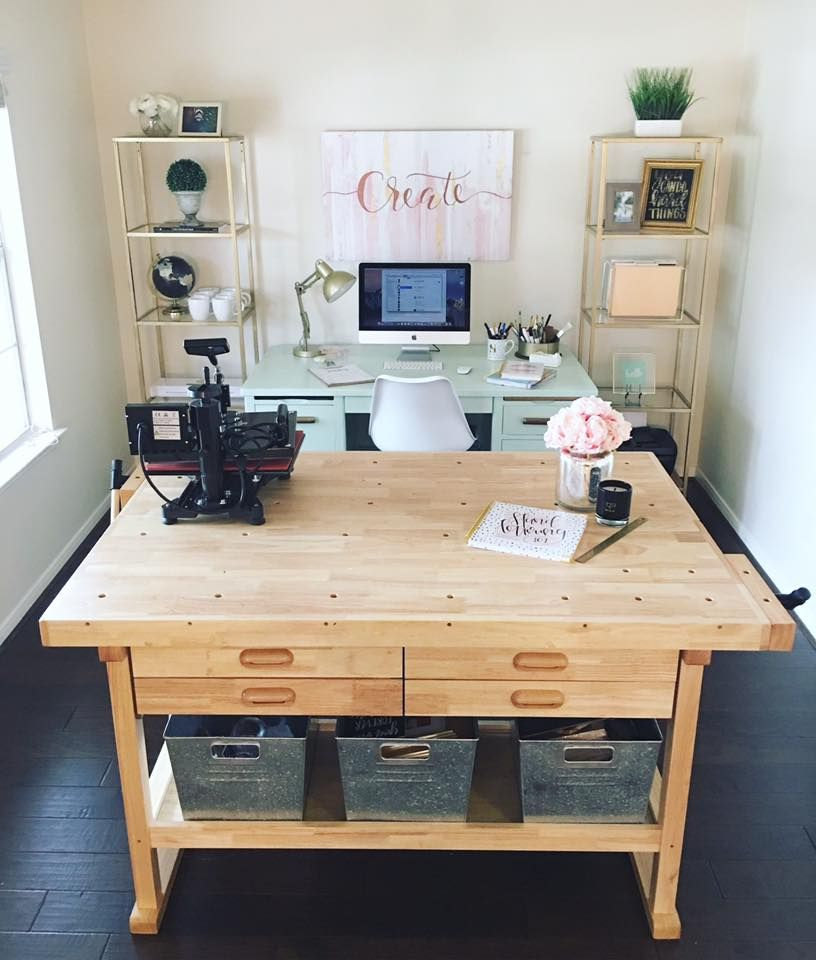 2 Harbor Freight Tables Bolted Together Http Www Harborfreight Com 60 In 4 Drawer Hardwood Workbench 69054 Htm Home Office Decor Workbench Designs Home Decor