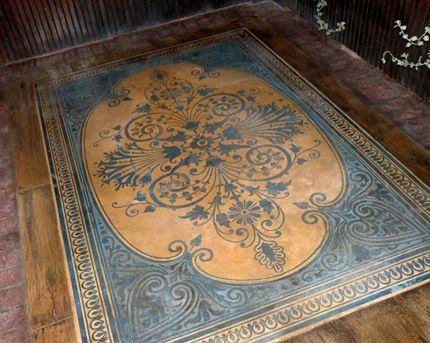 Modello Concrete Carpets Floor Stencils Painted