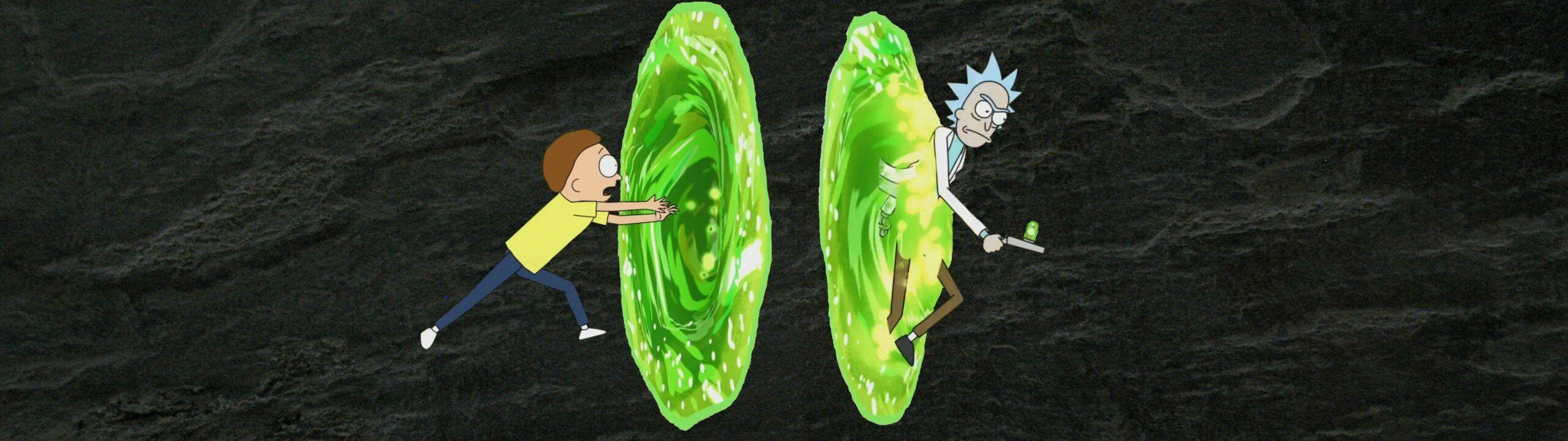 Rick And Morty Dual Screen Wallpaper En 2020 Fondo De Pantalla
