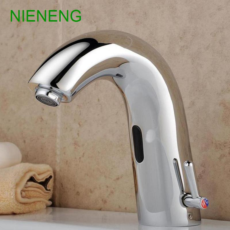 Bathroom Automatic Sensor Faucet   NIENENG Sink Faucet   Hospital  Restaurant Tap   4DS 48NSF