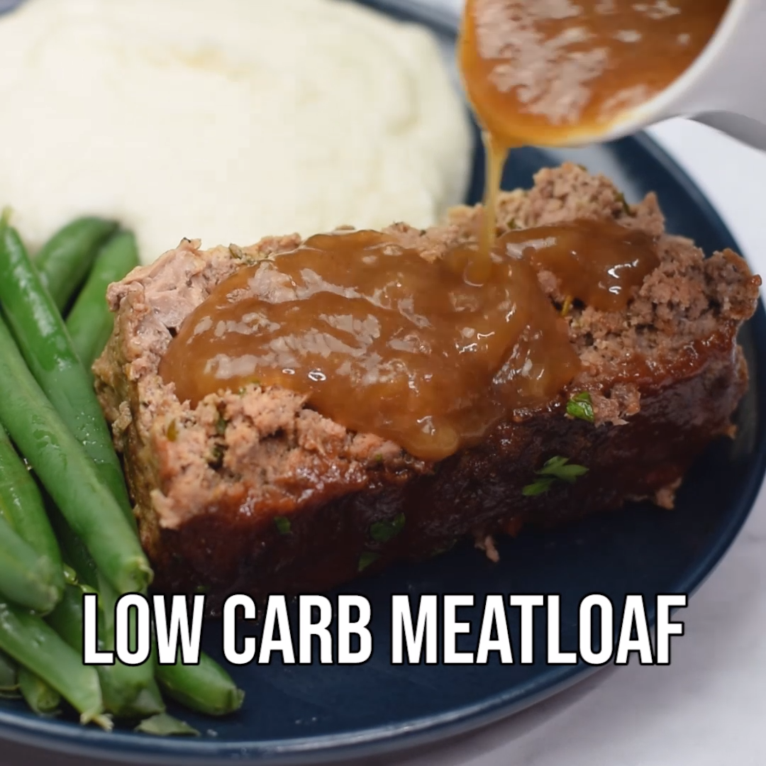 Easy, Keto Low-Carb Meatloaf with Glaze images