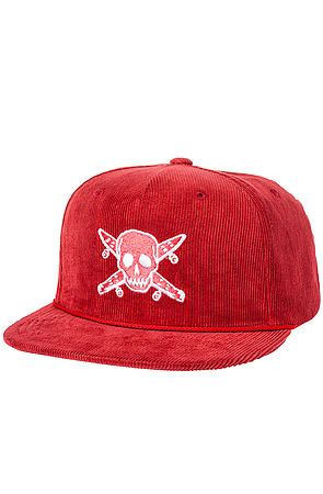 The Cord Pirate Trucker Hat in Red by Fourstar Clothing  d61e342ffb04