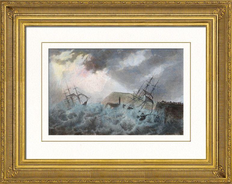 Marina - Naufragio del navío Francis Depau - Le Havre - Francia (1836)