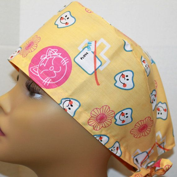 SESAME STREET HOLIDAY ORNAMENTS SURGICAL SCRUB HAT