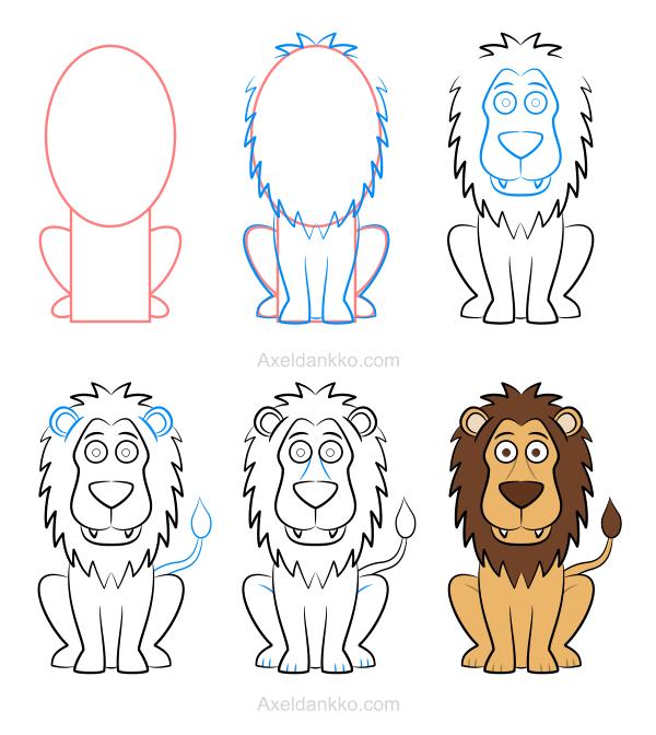 How to draw a lion comment dessiner un lion dibujos pinterest dibujo - Comment dessiner un lion ...