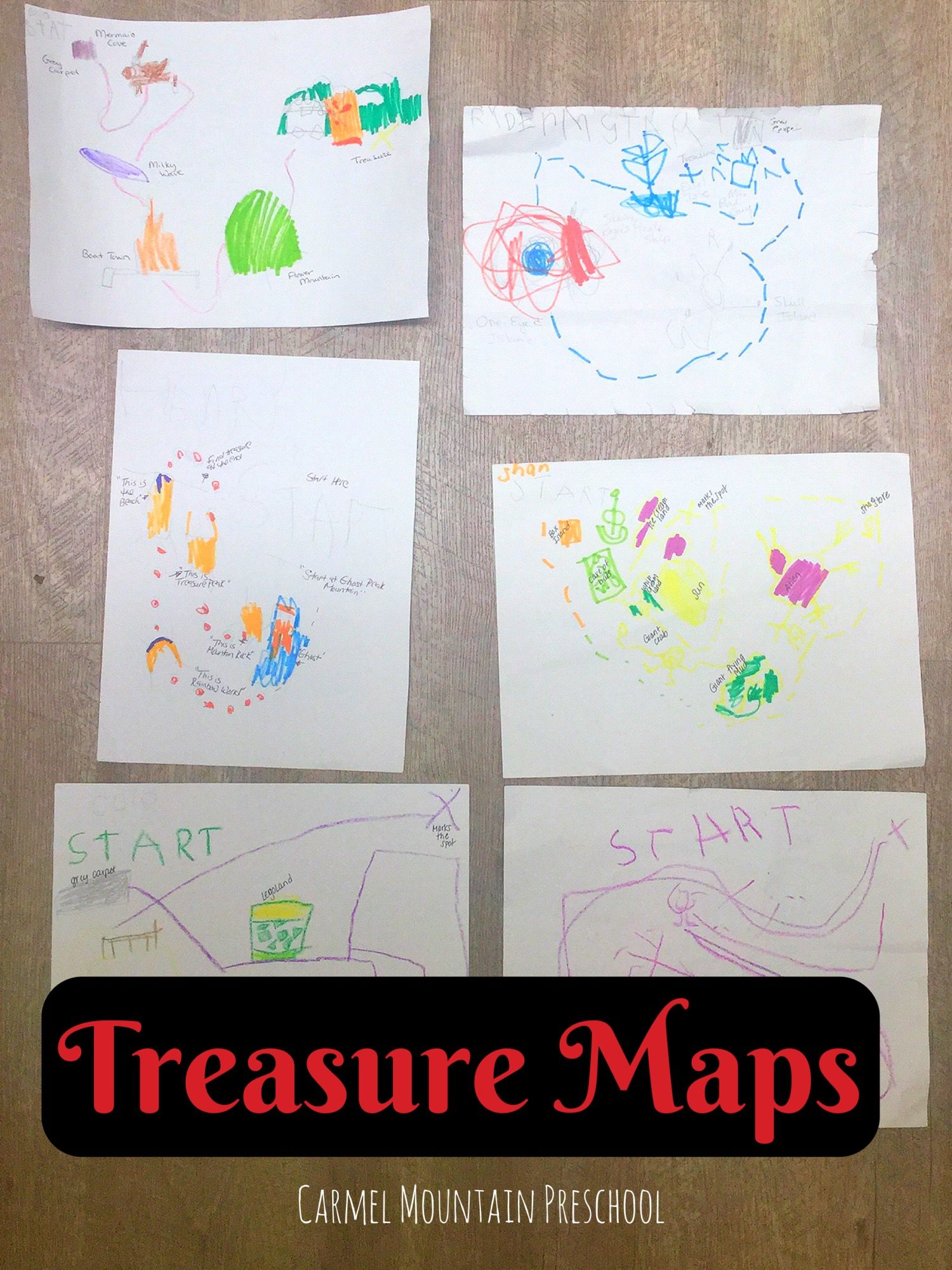have your kids create their own pirate treasure map with markers and