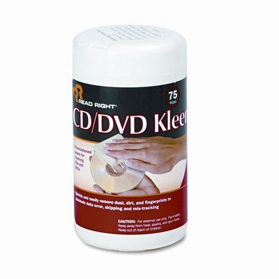 ADVANTUS CORPORATION CD/DVD Kleen Cleaner Wet Wipes, 5-1/4 x 5-3/4, 75/Tub