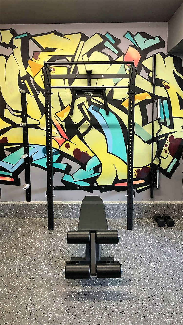 Graffiti walls and home gyms are like peanut butter and jelly