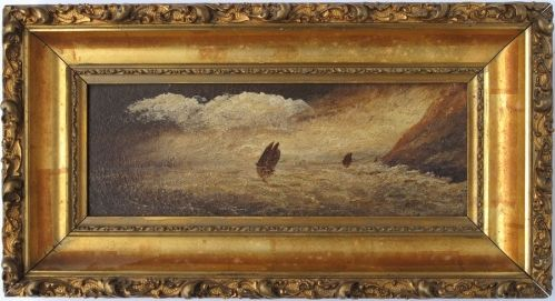 """Up for sale is this circa 1880 oil on academy board measuring 12"""" X ..."""