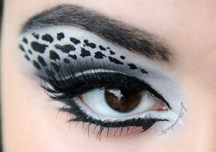 White Cheetah Print Eye Makeup Fashion Makeup Eye Makeup
