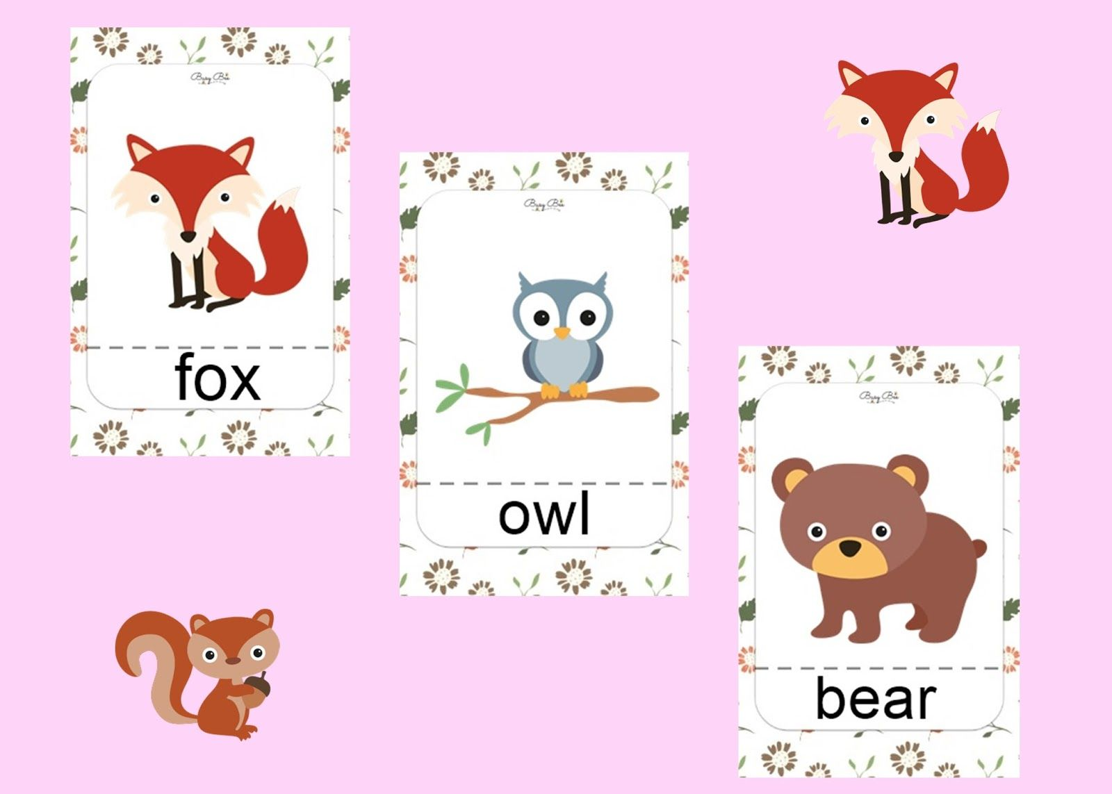 Forest Animals Aktywności dla dzieci