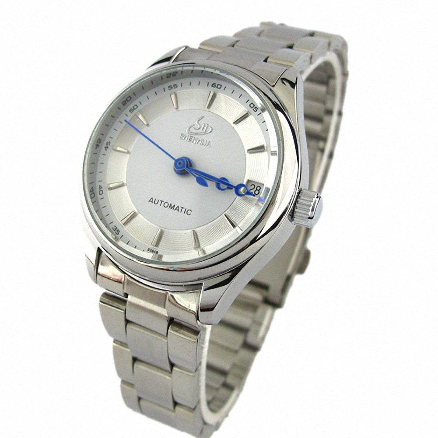 Youyoupifa White Dial Stainless Steel Strap Automatic