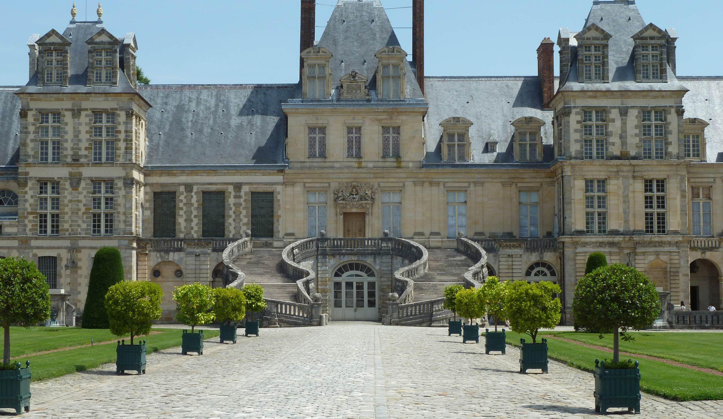 En Images Chateau De Fontainebleau Jardin Du Roi Chateau France