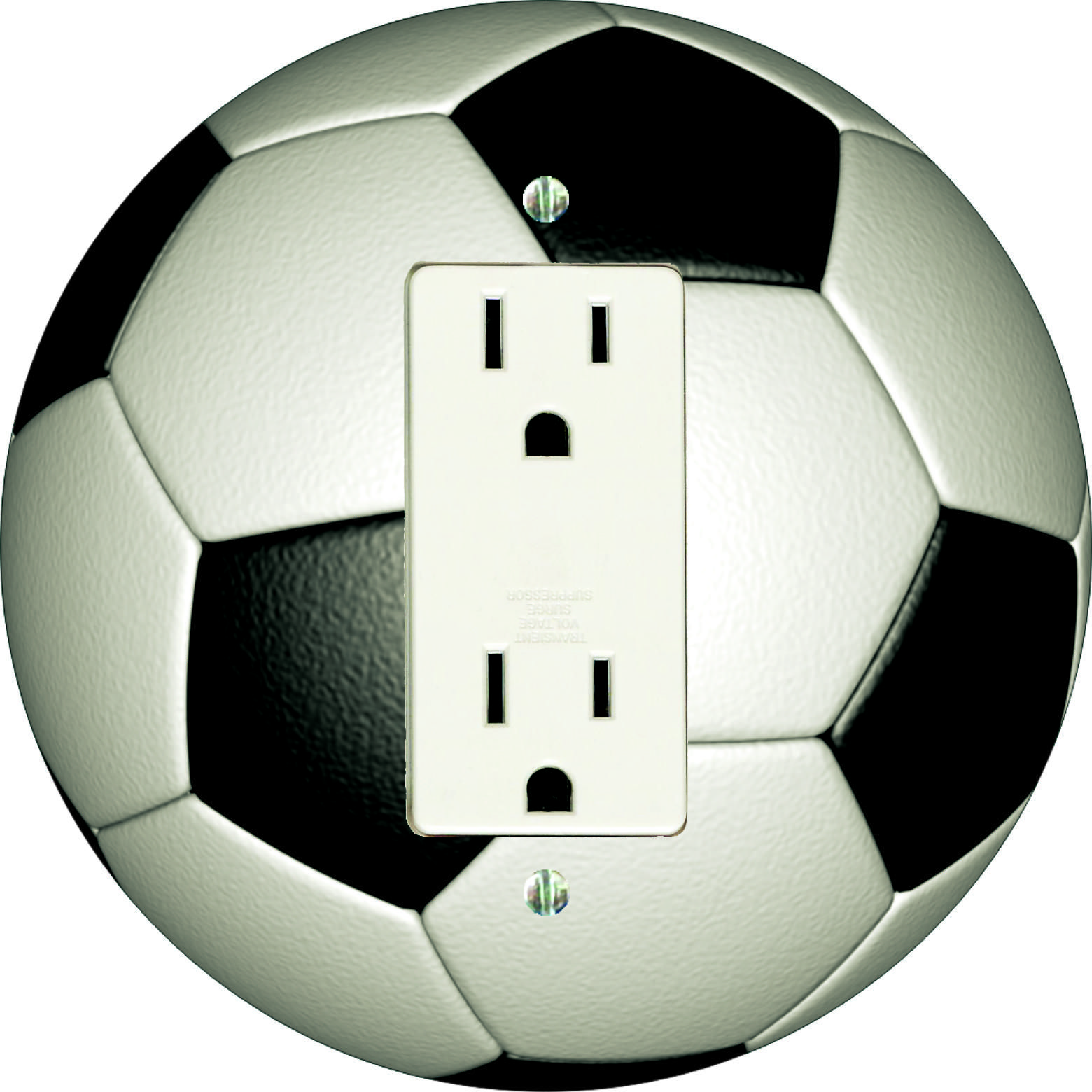 Soccer Decora Outlet, also fits decora rocker and Decora GFCI. Made in USA