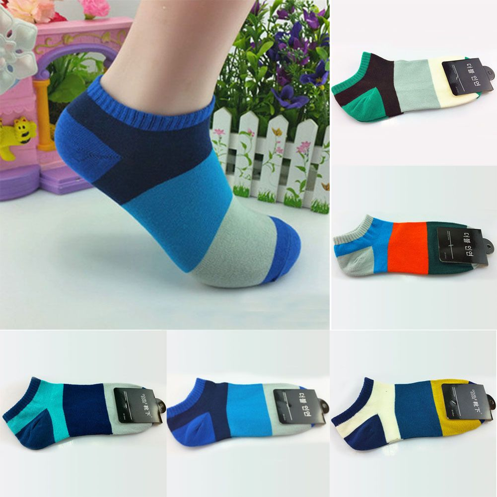 e6c1529c5d6c 1 Pair Lots Fashion Mens Ankle Socks Low Cut Crew Casual Sport Cotton Socks