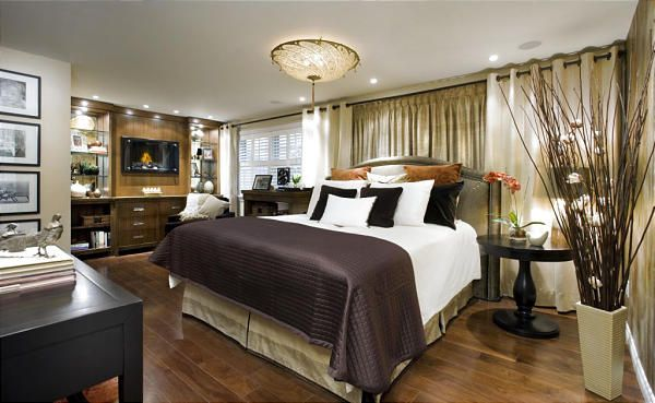 Hgtv Candice Olson Bedrooms Elements Comfortable Furnishings And High Tech Touches This Room