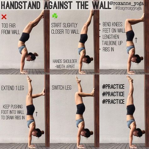 handstand against the wall  818k followers 1397