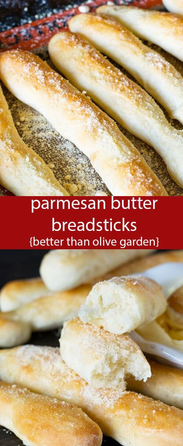 These soft Parmesan Butter Breadsticks will make your