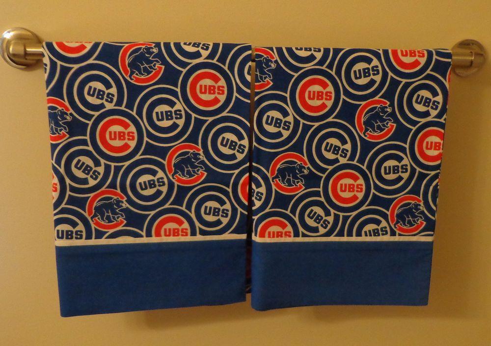 Set of 2 Chicago Cubs Sports Handmade Pillowcases standard/queen FREE SHIP #Handmade #Novelty