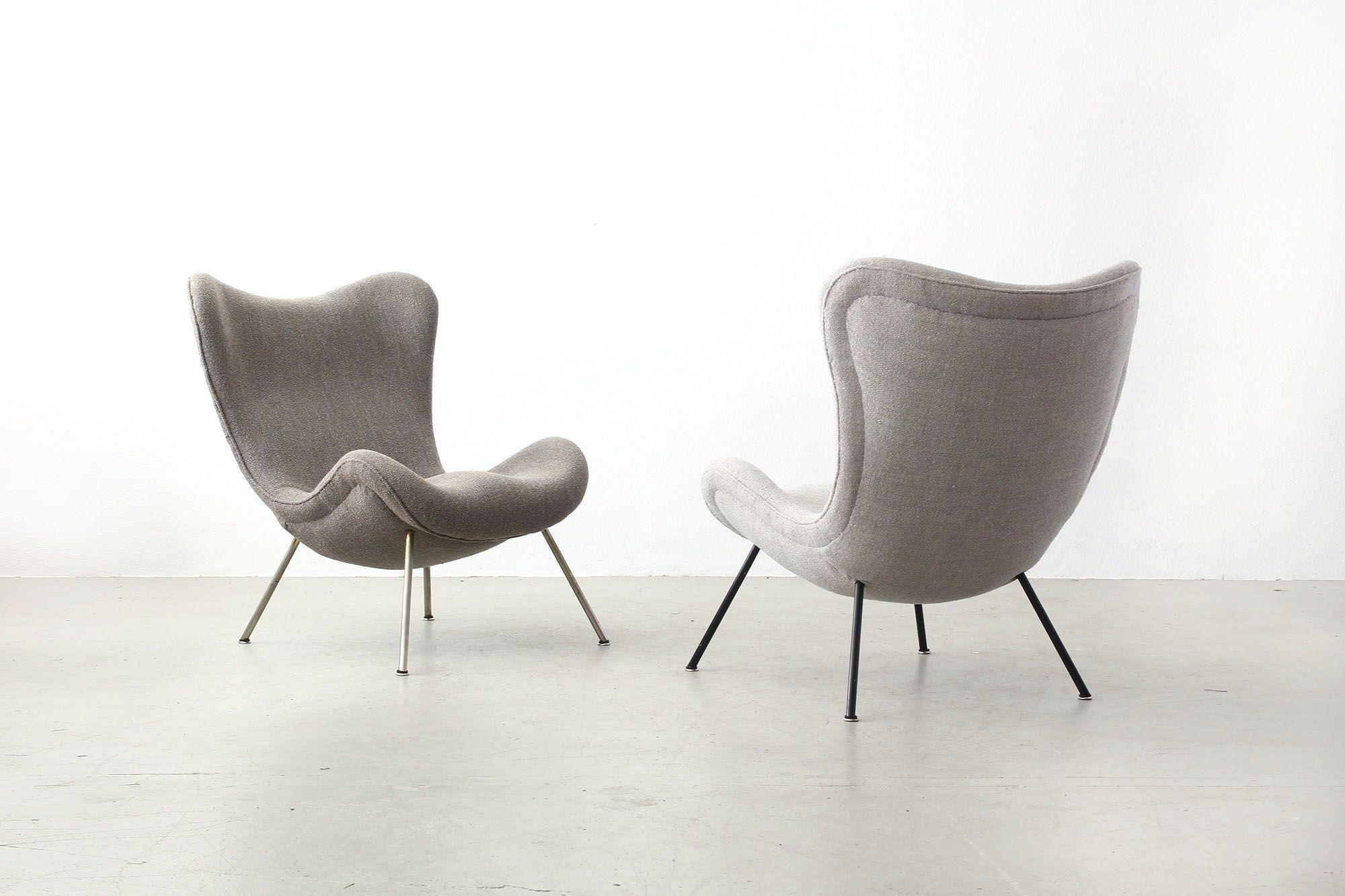 beautiful fritz neth lounge chairs for correcta mid century modern