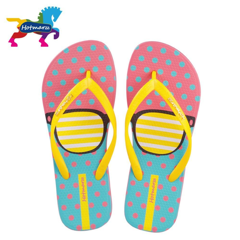68134b480e5 Hotmarzz Women Fashion Flip Flops Beach Slippers Summer House Shoes Woman Flat  Sandals Glasses Print Female
