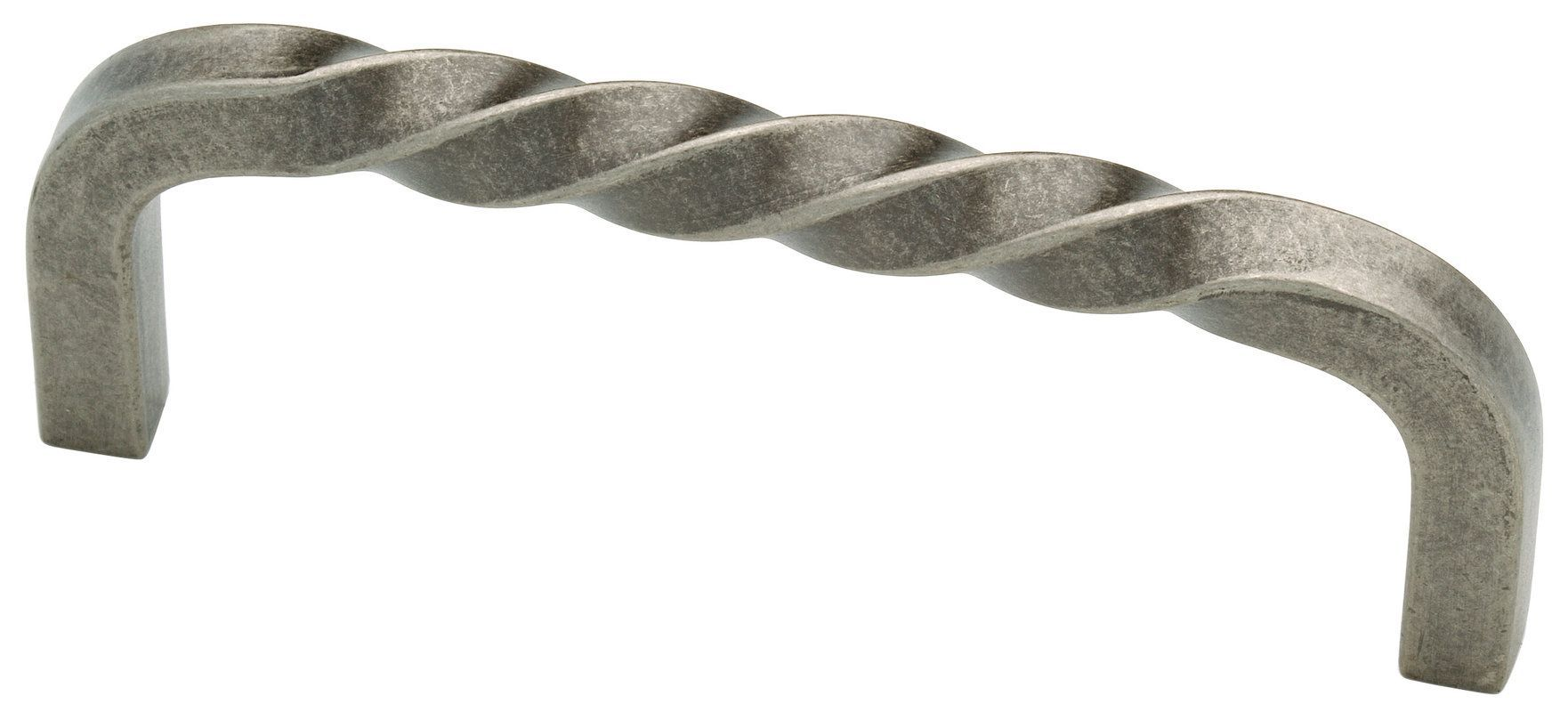Liberty Hardware 65214 Avante Iron Craft 3-3/4 Inch Center to Center Handle Cabi Tumbled Pewter Cabinet Hardware Pulls Handle