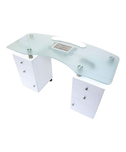 J A Glass Top Manicure Table W Draft Vent Note This Content Contains An Affiliate Link Whic Provides Compensatio Manicure Table Spa Pedicure Chairs Nail Room