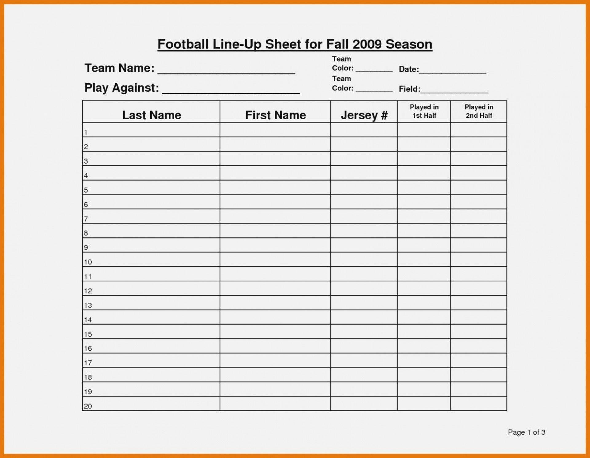 The Glamorous 027 Football Depth Chart Template Best Ideas Editable Excel Pertaining To Blank Football Dep In 2020 Depth Chart Professional Templates Business Template