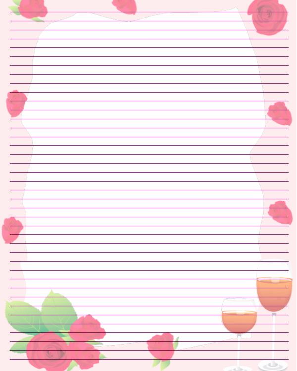Printable Valentine Stationary Printable Writing Paper by Aimee