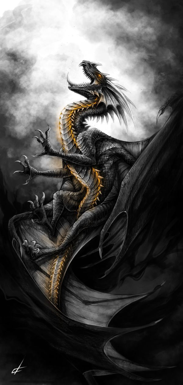 Mythological Dragons: Dragon Fantasy Myth Mythical Mystical Legend Dragons Wings