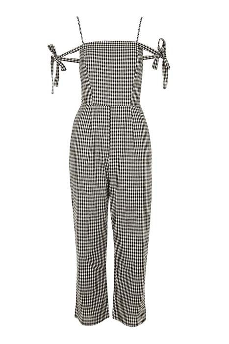 84de93db65 The perfect summer s day outfit. This Glamorous Gingham Check Jumpsuit is  budget friendly! Go to HFM for more occasion wear outfit ideas.