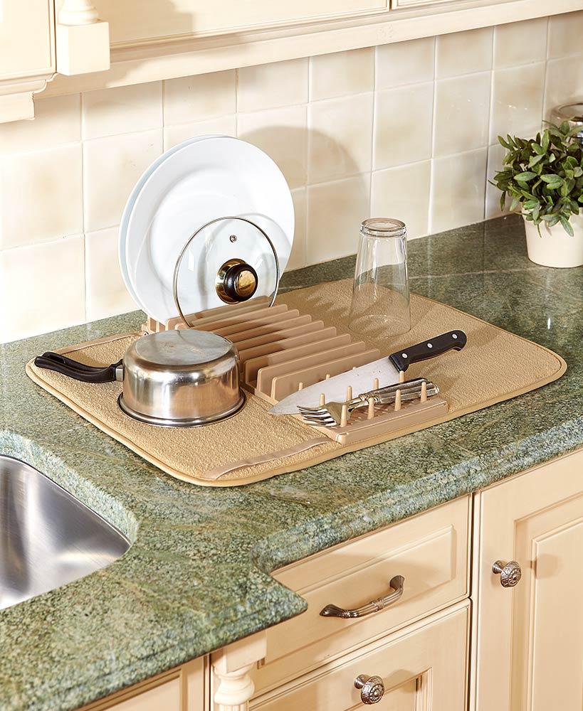 Cuisinart Dish Drying Mat With Rack Dish Drying Mat Affordable Kitchen Decor Cuisinart