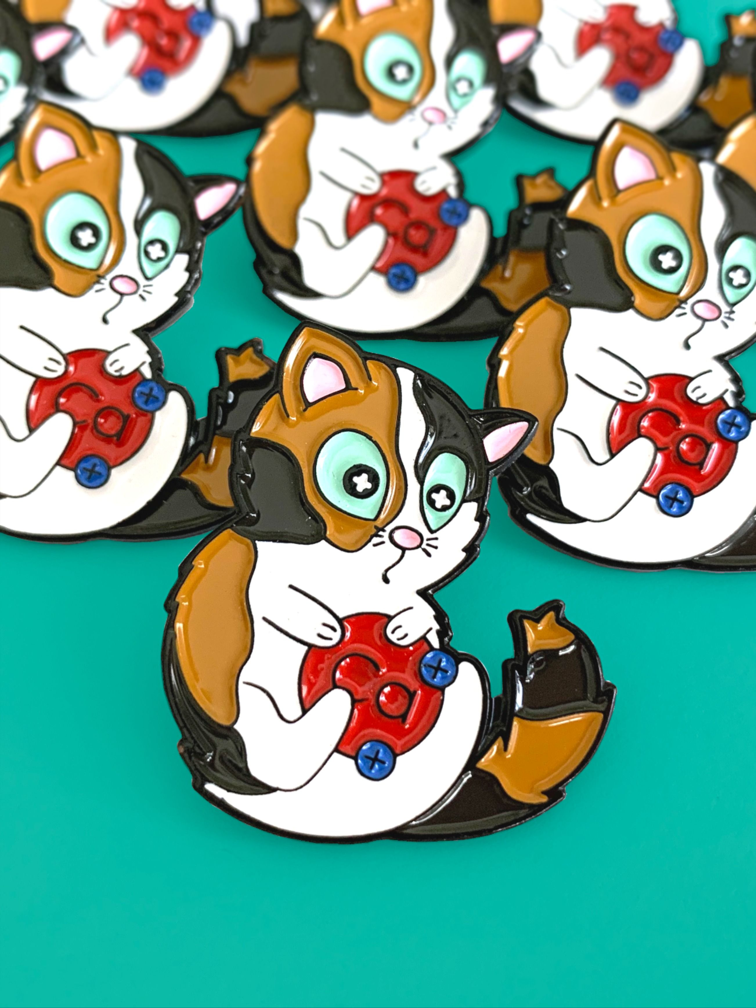 Pawsitive Calico Cation Pin In
