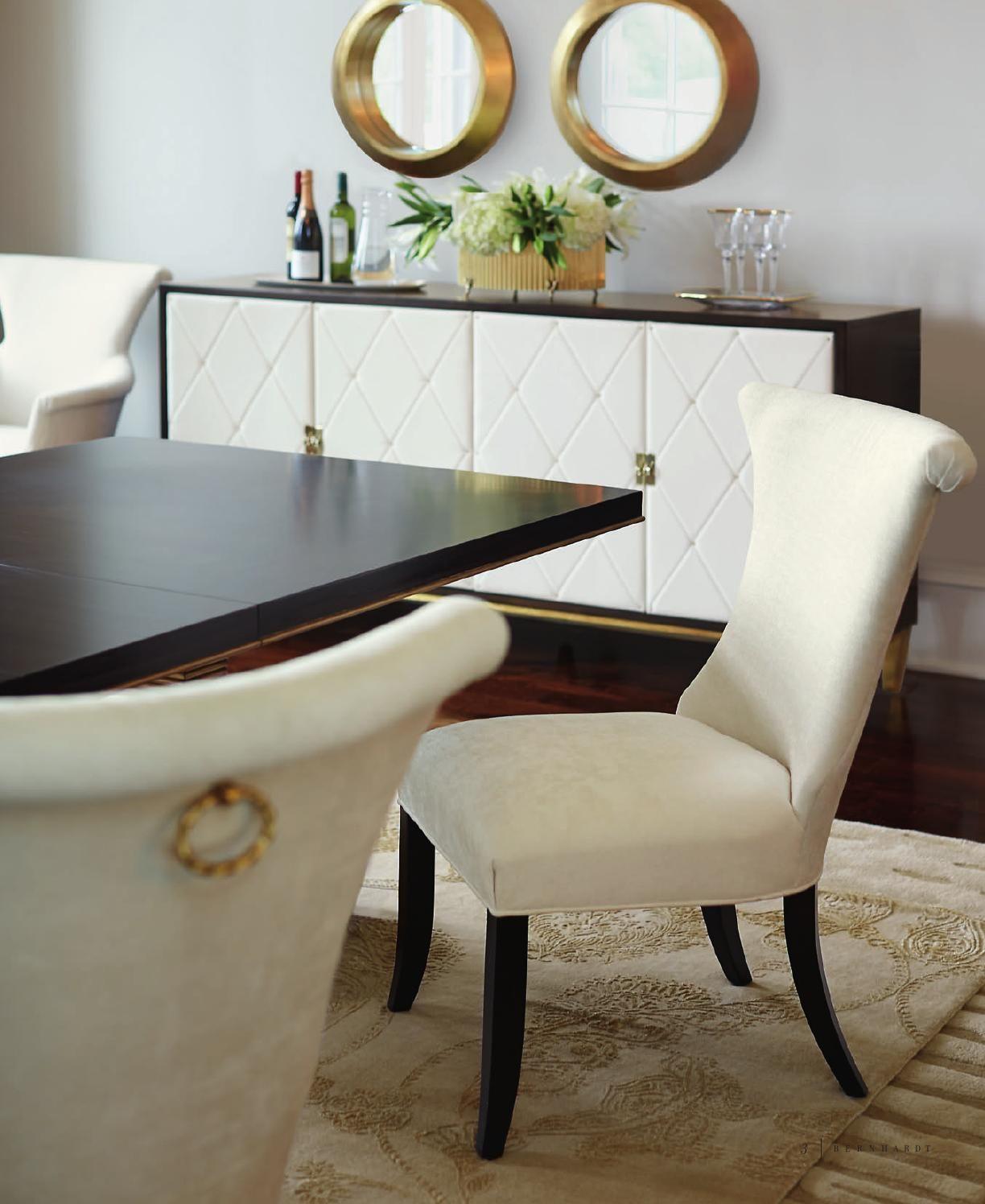 Jet Set Catalog Double Pedestal Dining Table Bernhardt