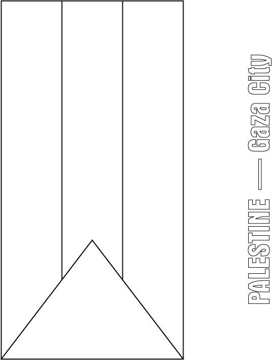 Palestine Flag Coloring Page