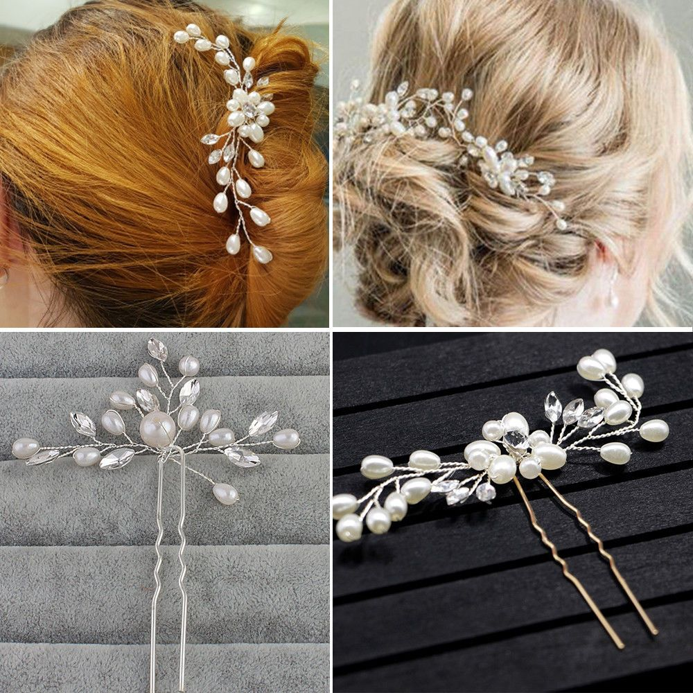 wedding bridal hair pins comb flower clips accessories