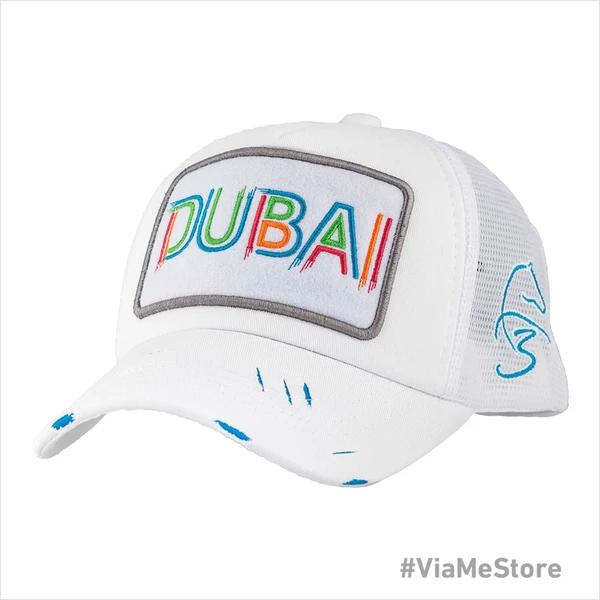 Designer White Mesh Trucker Baseball Cap Footballer Model Dubai Hat Cap Summer