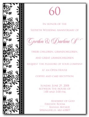 60th Wedding Anniversary Invitation Wording Wedding Anniversary