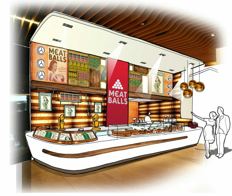 Innenarchitektur skizze cafe  Meat Balls counter | RMU ideas | Pinterest
