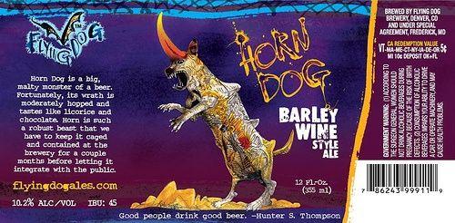 horn-dog-beer-label-1jpg DISEÑO Pinterest - beer label