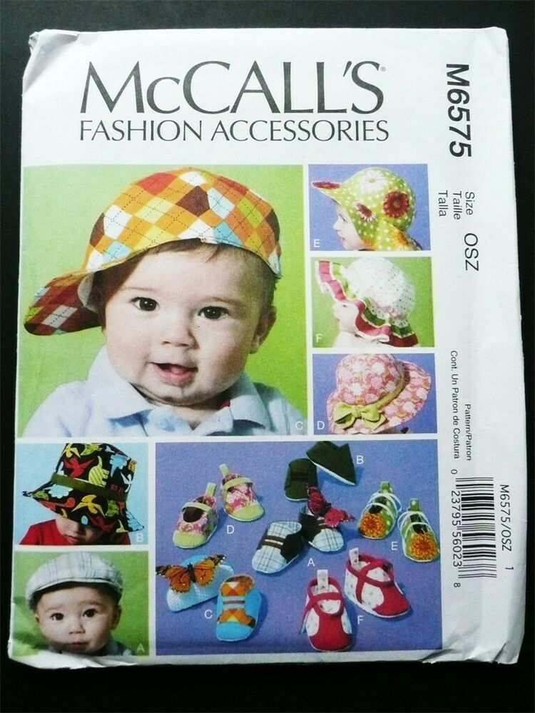 McCalls 3607 Infants Rompers With Snap Crotch And Hat 10 Piece Pattern