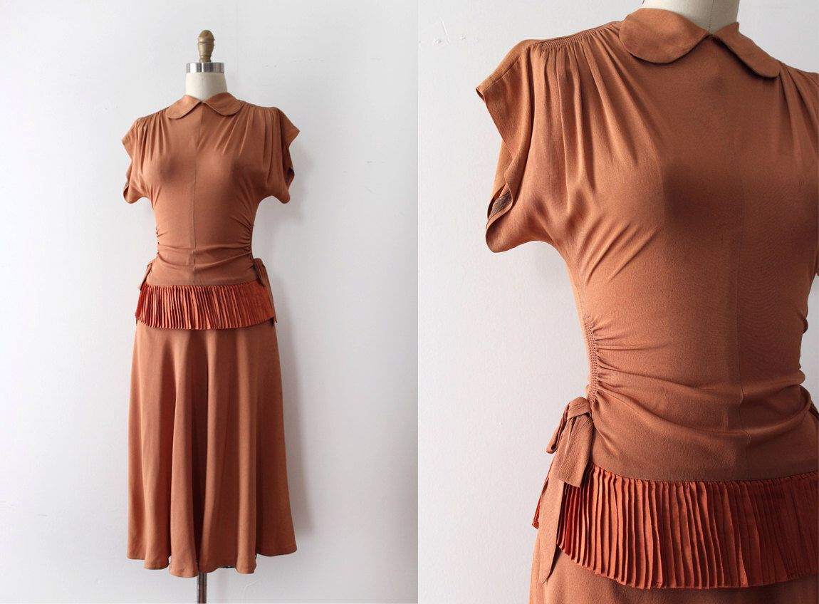 Vintage s dress s rayon evening dress s dress form