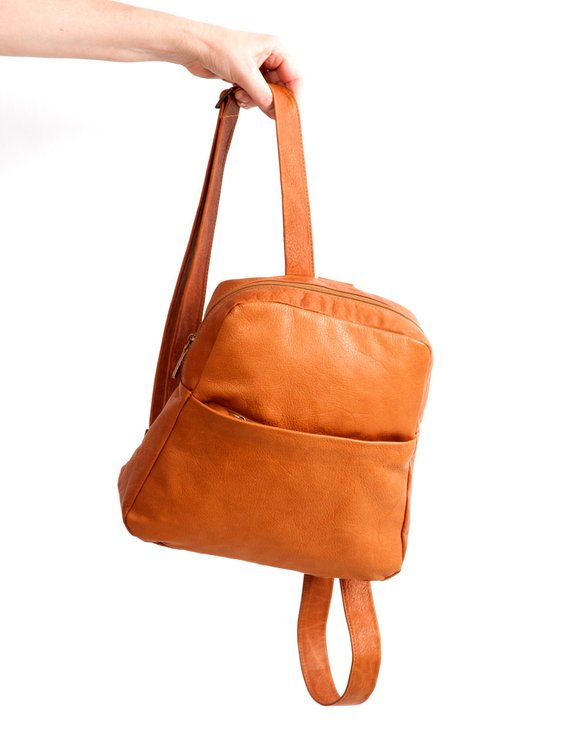 47810f6b4 This hand-crafted soft brown leather bag is made of nappa leather,  high-quality Italian leather. ♥♥♥ Before: 404$ / ON SALE: 283$ + Free  shipping ...