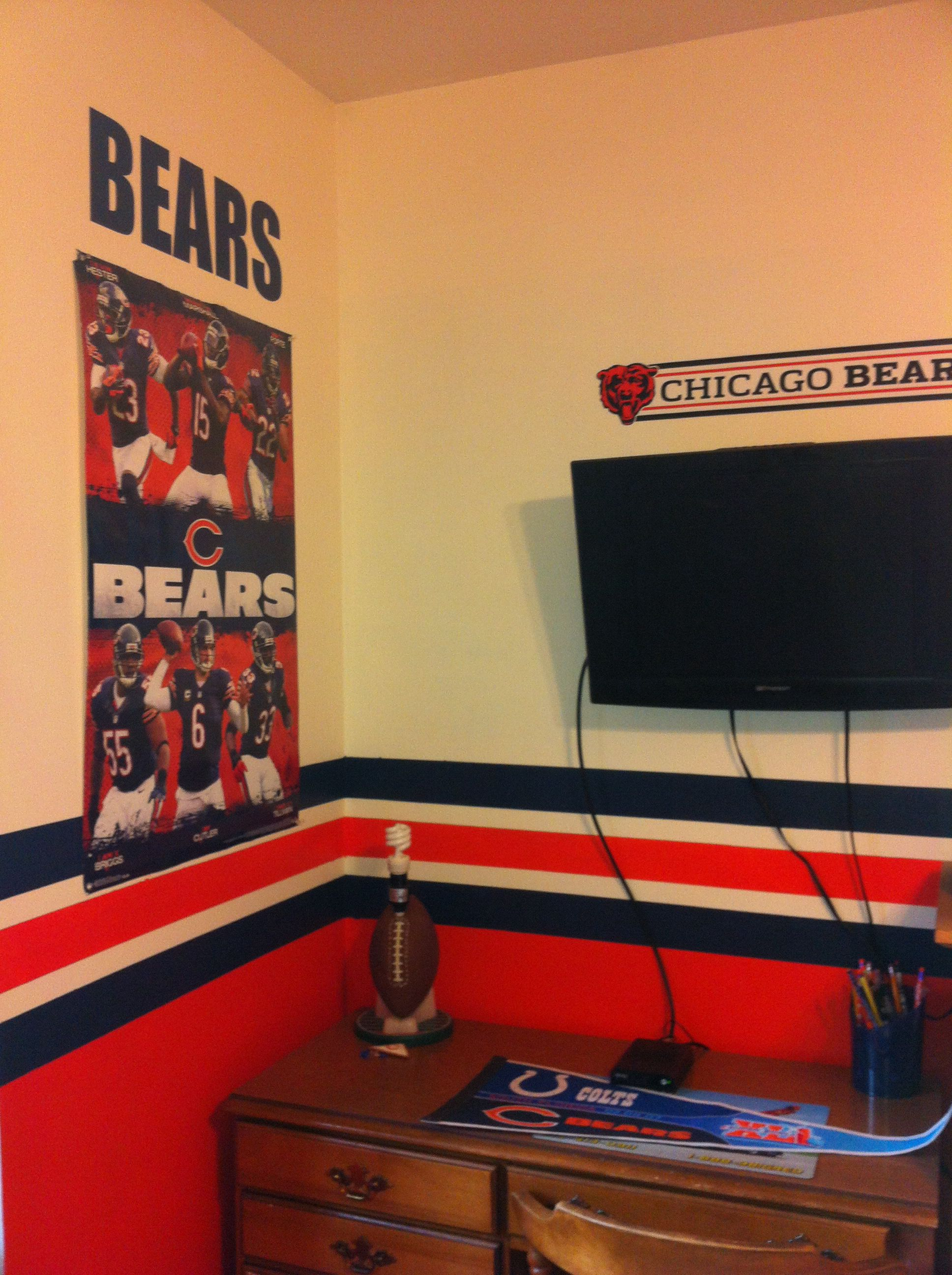 Chicago Bears Boys Bedroom With Images