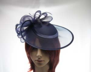 a57d7aef2391 Navy Mother of the Bride Wedding Hat made to order in Australia H835N