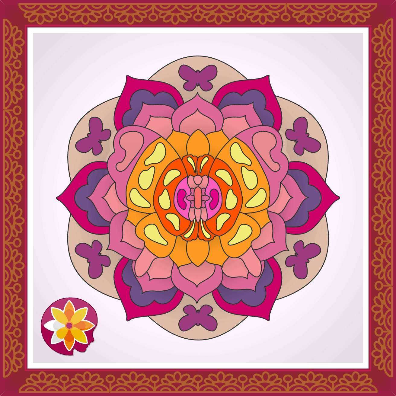 Mandala coloring from ColorMind: free adult coloring app for ...