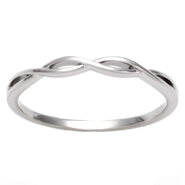 Celebrate Your Wedding Vows With This 10k White Gold Braided Band By Miadora Made