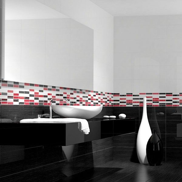 auro blanco black and white bathroom ideas white tiles. Black Bedroom Furniture Sets. Home Design Ideas