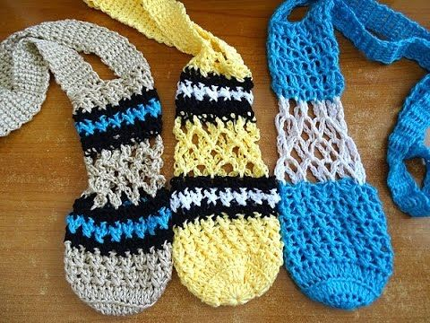 Diamond Mesh Bottle Holder - Crochet Tutorial | Crochê na Cozinha ...