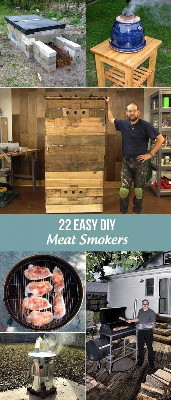 22 Easy DIY Meat Smokers to Make Your Own Smoker Meat